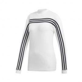 ADIDAS felpa palestra con cerniera 3 stripes nero donna