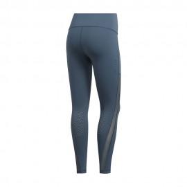 ADIDAS leggings sportivi alphaskin 7/8 grigio donna