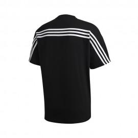 ADIDAS maglietta palestra 3 stripes nero uomo
