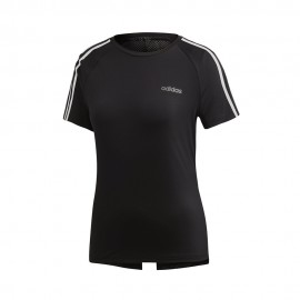 ADIDAS maglietta palestra 3 stripes back v nero donna