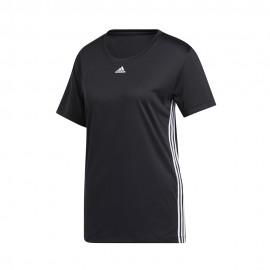ADIDAS maglietta palestra 3 stripes nero donna