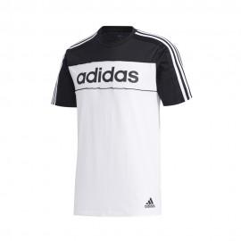 ADIDAS maglietta palestra bicolore logo nero uomo