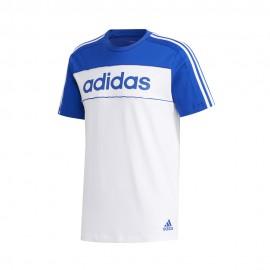 ADIDAS maglietta palestra bicolore logo blu uomo