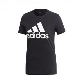 ADIDAS maglietta palestra logo nero donna