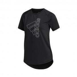 ADIDAS maglietta palestra logo sport nero donna