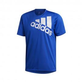 ADIDAS maglietta palestra olympic bos blu uomo