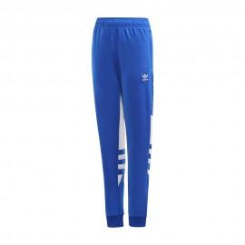 ADIDAS originals pantalone palestra big trefoil blu bambino