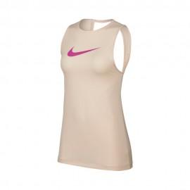 Nike Canotta Palestra Logo Rosa Donna