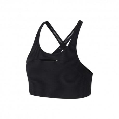 Nike Reggiseno Sportivo Righe Nero Donna