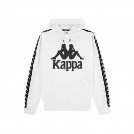 Kappa Felpa Palestra Con Cappuccio Bianco Uomo
