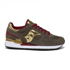 Saucony Sneakers Shadow O Crocodile Oro Donna