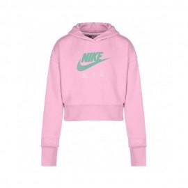 Nike Felpa Palestra Cappuccio Logo Rosa Bambina