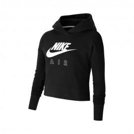 Nike Felpa Palestra Crop Logo Nero Bambina