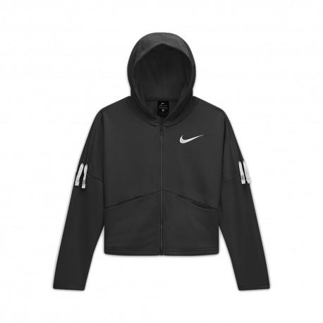 Nike Felpa Palestra Con Lacci Nero Bambina