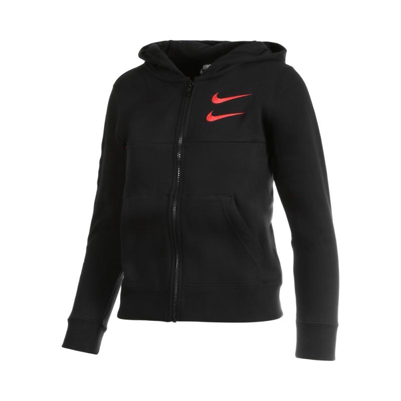Nike Felpa Palestra Cerniera E Cappuccio Nero Bambino