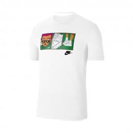 Nike Maglietta Palestra Illustration Bianco Uomo
