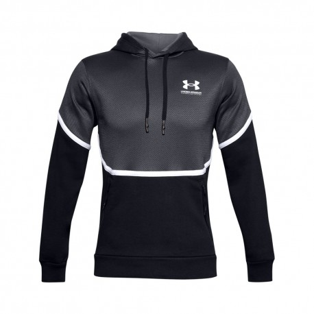 Under Armour Felpa Palestra Logo Rival Nero Uomo