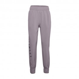 Under Armour Pantalone Con Polsino Wovent Rosa Donna
