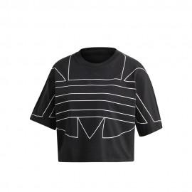 ADIDAS originals t-shirt crop nero donna