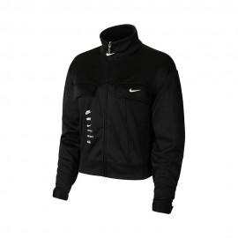 Nike Felpa Con Cerniera Big Swoosh Nero Donna