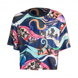 Nike T-Shirt Crop Fantasia Multi Donna