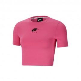 Nike T-Shirt Crop Air Rosa Donna