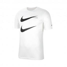 Nike T-Shirt Doppio Swoosh Bianco Uomo