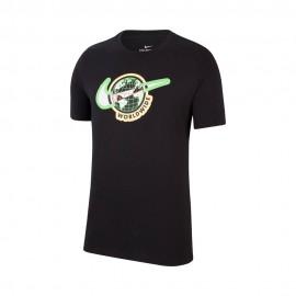 Nike T-Shirt Logo Swoosh Nero Uomo