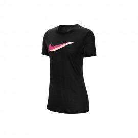 Nike T-Shirt Logo Nero Donna