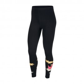 Nike Leggings Fantasia Nero Donna
