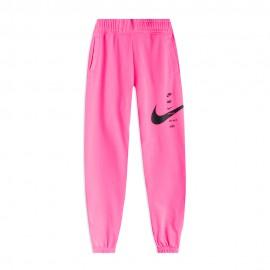 Nike Pantaloni Con Polsino Big Swoosh Rosa Donna