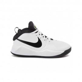 Nike Scarpe Basket Team Hustle D 9 Gs Bianco Nero Bambino