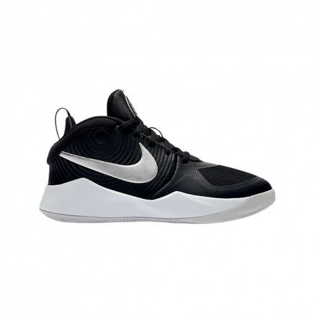 Nike Scarpe Basket Team Hustle D 9 Gs Nero Bianco Bambino