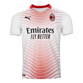 Puma Maglia Calcio Mm AC MIlan Away 20 21 Bianco Rosso Bambino