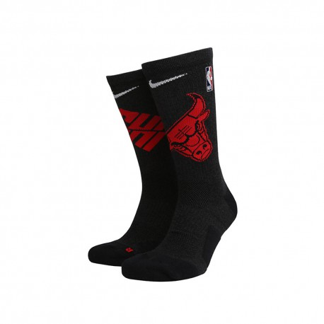 Nike Calze Basket Nba Elite Chicago Nero Rosso Uomo