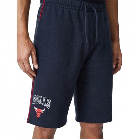 New Era Shorts Piping Chicago Grigio Rosso Uomo