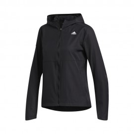 ADIDAS giacca running wind hooded nero donna