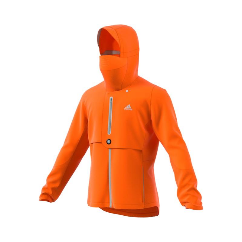 ADIDAS giacca running wind.rdy arancio uomo
