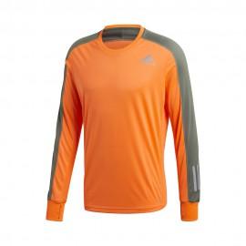 ADIDAS maglia running manica lunga own arancio verde uomo