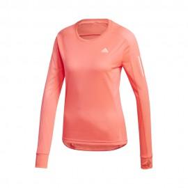 ADIDAS maglia running manica lunga own rosa donna