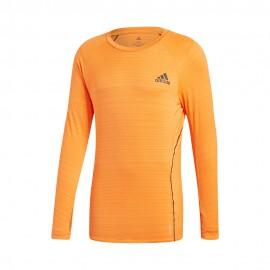 ADIDAS maglia running manica lunga runner orange uomo