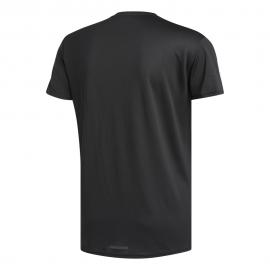 ADIDAS maglia running 3 stripes nero bianco uomo