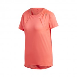 ADIDAS maglia running mezza manica heat.rdy rosa donna