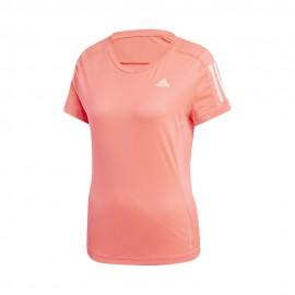 ADIDAS maglia running mezza manica own rosa donna