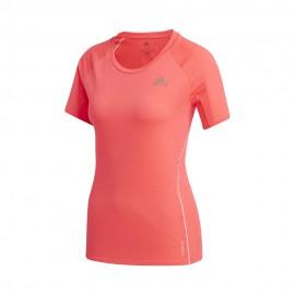 ADIDAS maglia running mezza manica runner rosa donna