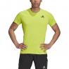 ADIDAS maglia running mezza manica runner verde uomo