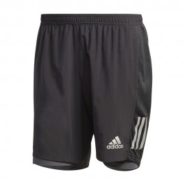 ADIDAS pantaloncini running 2in1 run own nero uomo