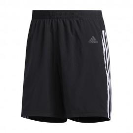 ADIDAS pantaloncini running it 3 stripes nero uomo
