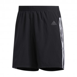 ADIDAS pantaloncini running it 3 stripes nero uomo