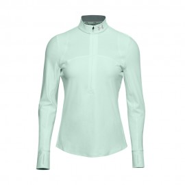 Under Armour Maglia Running Manica Lunga Hzip Blu Donna